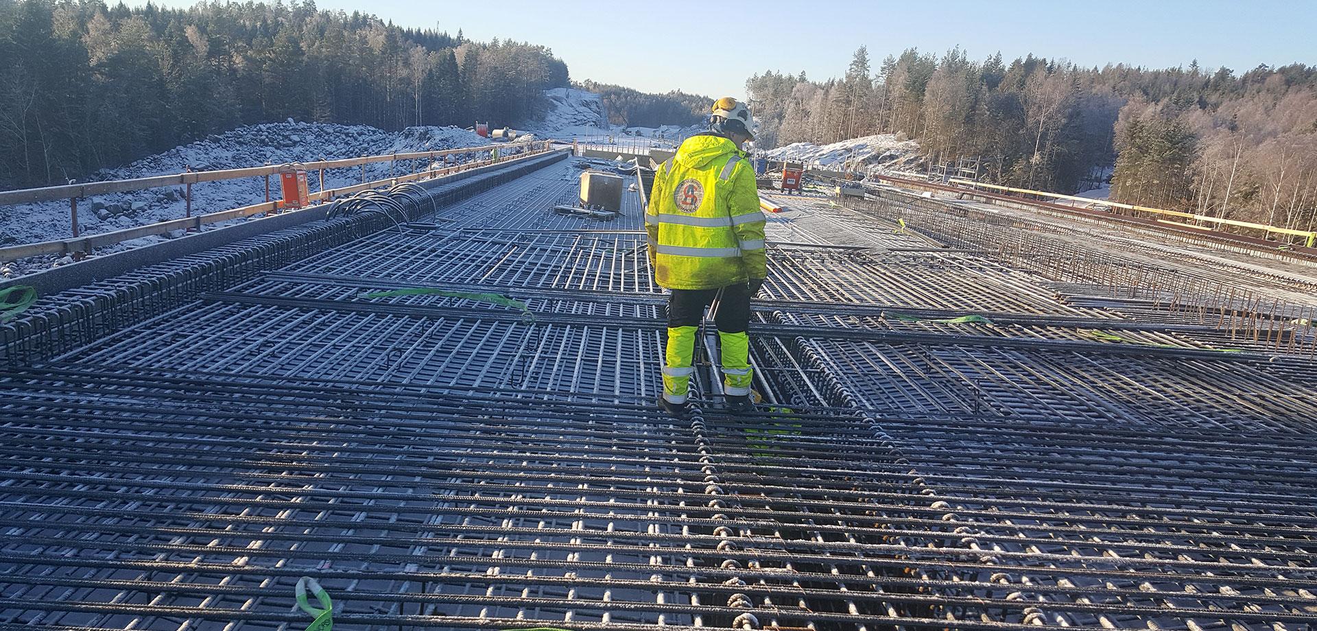 Overbygning Mørkoppdalen Bru E18 Arendal-Kristiansand